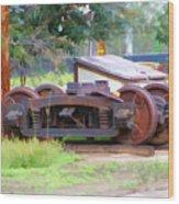 Abandoned Wheels Wood Print