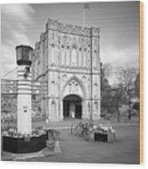 Abbey Gate Wood Print