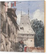 Abbey St-amand, Rouen Wood Print