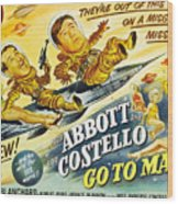 Abbott And Costello Go To Mars, Bud Wood Print by Everett