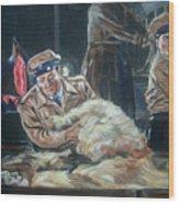 Abbott And Costello Meet Frankenstein Wood Print