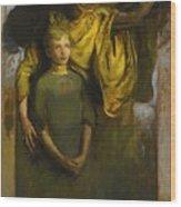 Abbott Handerson Thayer 1849 - 1921 Boy And Angel Wood Print