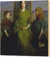 Abbott Handerson Thayer - Mother And Children Wood Print