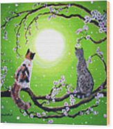 Abby And Caesar In The Spring Wood Print
