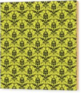 Abby Damask In Black Pattern 05-p0113 Wood Print