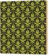 Abby Damask With A Black Background 05-p0113 Wood Print