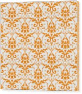 Abby Damask With A White Background 03-p0113 Wood Print