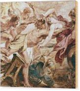 Abduction Of Hippodamia Wood Print