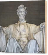Abe Down To His Knees Wood Print
