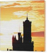 Aberdeen Silhouettes - Portrait Wood Print