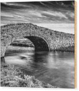 Aberffraw Bridge V2 Wood Print