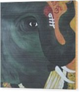 Abhaya Ganapathi Wood Print