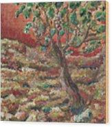 Abide Wood Print