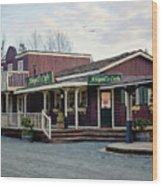 Abigail's Cafe - Hope Valley Art Wood Print