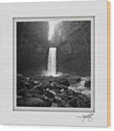 Abiqua Falls Amphitheater  Wood Print