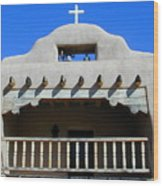 Abiquiu Church Number 2 Wood Print by Joseph R Luciano