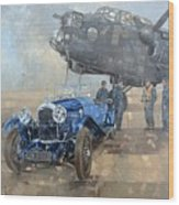 Able Mable And The Blue Lagonda  Wood Print