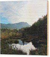 Abol Mt And Round Pond Wood Print