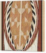 Aboriginal Bark Painting  Wood Print