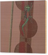 Aboriginal Lizard Wood Print