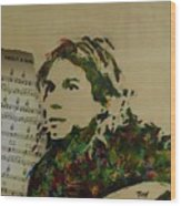 About A Girl Wood Print
