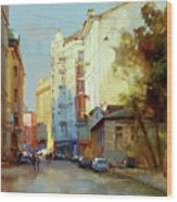 About The Arbat. Plotnikov Lane. Wood Print