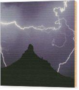 Above And Beyond Pinnacle Peak Wood Print