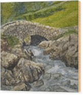 Above Ashness Bridge Wood Print
