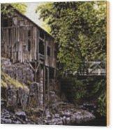 Above Cedar Creek Wood Print by Craig Shillam