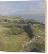 Above Coast Dairies Wood Print