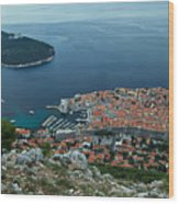 Above Dubrovnik - Croatia Wood Print