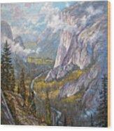 Above El Capitan Wood Print