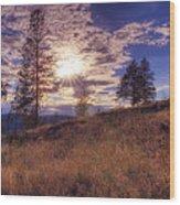 Above Lake Okanagan Wood Print