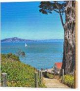 Above San Francisco Bay Wood Print