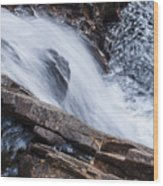 Above Small Falls Wood Print