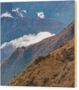 Above The Clouds In The Andes Wood Print