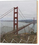 Above The Golden Gate Wood Print