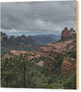 Above The Red Rocks Of Sedona  Wood Print