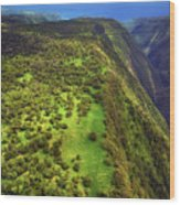 Above The Valleys Wood Print