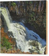 Above Undine Falls Wood Print