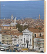 Above Venice Wood Print