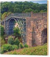 Abraham Derbys Iron Bridge Rural Landscape Wood Print
