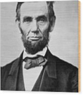 Abraham Lincoln -  Portrait Wood Print by International  Images