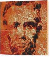 Abraham Lincoln 4d Wood Print
