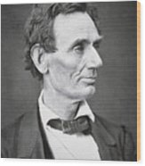 Abraham Lincoln Wood Print by Alexander Hesler