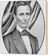 Abraham Lincoln Circa 1860 Wood Print by War Is Hell Store