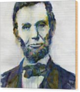 Abraham Lincoln Portrait Study 2 Wood Print