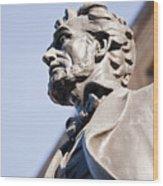 Abraham Lincoln Statue Profile Wood Print