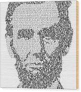 Abraham Lincoln Typography Wood Print