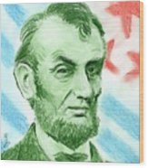 Abraham Lincoln  Wood Print by Yoshiko Mishina